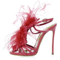 Dsquared2 Ayers Leather 12 cm Sandal with Feathers