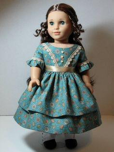 American Girl Doll 1850's Day Dress for Cecile or Marie-Grace from ThreadsOfTroy
