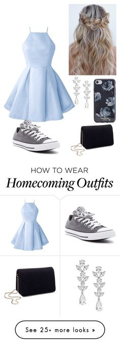 """Blue dresses are the best"" by fashionguru34 on Polyvore featuring Miss Selfridge, Saks Fifth Avenue, Kate Spade and Converse"