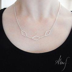 Triple necklace diamond - Triple diamond necklace