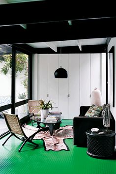 Green, black, white. Designed by Andrew Parr for Vogue Australia Living