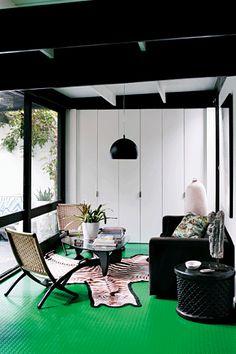 Green, black, white. Designed by Andrew Parr for Vogue Australia Living