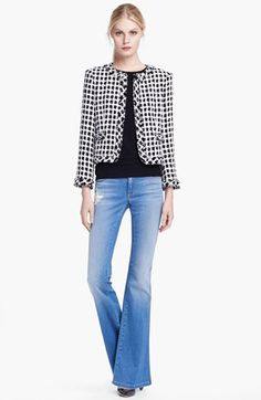 Kind of love this jacket- and non-skinny jeans!!!! Alice + Olivia Jacket, Top & Jeans | Nordstrom