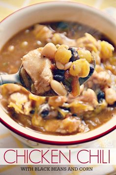 Chicken Chilli with black beans and corn
