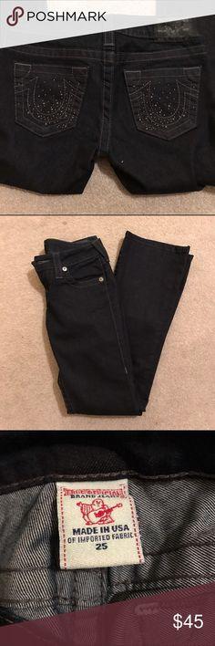 True Religion Black Jeans Great condition super cute Jeans True Religion Jeans Straight Leg