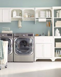 If I had a laundry room this organized I could do laundry every day... well maybe not everyday but when I did I would be smiling. #DiamondCrystalSalt