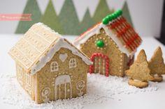 Cómo hacer una casita de jengibre paso a paso. Receta de Navidad Mantecaditos, Cake Cookies, Gingerbread, Cakes, Frosting, Christmas Gingerbread House, Gingerbread Cookies, Dessert Food, Beverages
