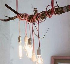 DIY-Anleitung: Deckenlampe am Ast bauen via DaWanda.com