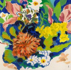 Flower study- original acrylic- gouache painting