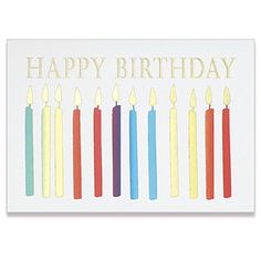 Colorful Candles Birthday Card Business Greeting