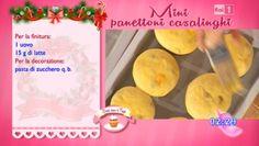 Oggi a Dolci dopo il tiggì del 17 dicembre 2014 vediamo preparare la ricetta casalinga di Anna Moroni, quella dei mini panettoni. Antonel...