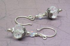 A Winter Ice Storm XIII Swarovski Crystal Earrings | JewelryByLis - Jewelry on ArtFire