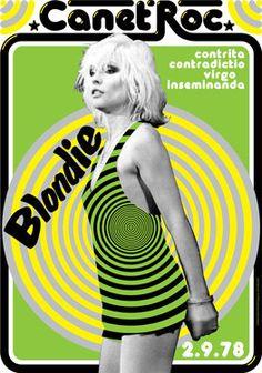 BLONDIE  - 2 September 1978 - Canet de Mar Maresme Spain - artistic concert poster. €10.00, via Etsy.