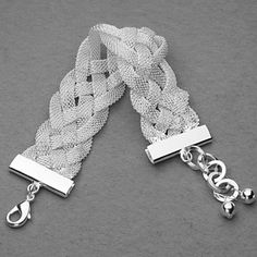 Beautiful Silver Plated Mesh Belt Knot Unisex Bracelet  USD $ 9.49 |Jewelry - Daily Deals|