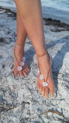 Barefoot sandals. festival boho sandals barefoot by dieselboutique