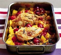 Try this delicious chicken, tomato, rosemary and polenta recipe - gluten free and ready in just 30 minutes