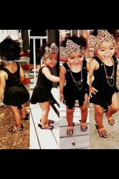 I must dress her up like this. Mixed baby <3