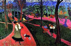 """""""Hyde Park"""" by André Derain, 1906 Andre Derain, Willem De Kooning, Hyde Park, Henri Matisse, Vincent Van Gogh, Paul Cezanne, Maurice De Vlaminck, London Painting, Art Sur Toile"""