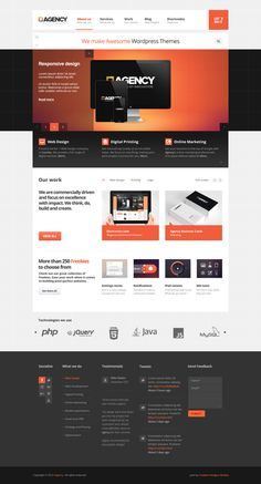 Agency by Nicola Mihaita, via Behance