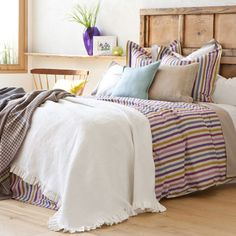 Flower and Frill Jacquard Bedspread and Cushion Cover | ZARA HOME België / Belgique