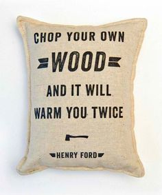 No kidding! Chopping wood is a workout.