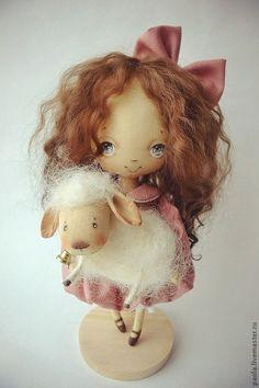 Коллекционные куклы ручной работы. Ярмарка Мастеров - ручная работа Лилу, пастушка Белого Облака. Handmade.
