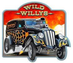 Vintage and Retro Tin Signs - JackandFriends.com - Wild 33 Willys 2 Custom Shape Metal Sign 24 x 30 Inches, $64.98 (http://www.jackandfriends.com/wild-33-willys-2-custom-shape-metal-sign-24-x-30-inches/)