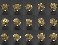 print model Ultra vision Rings - 105 in one design, formats include STL, ready for animation and other projects Jewelry Model, Wire Jewelry, Boho Jewelry, Jewelery, Jewelry Accessories, Jewelry Design, Types Of 3d Printers, Lapis Lazuli Jewelry, Gold Ring Designs