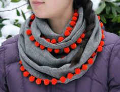I LOVE this scarf! It is so simple to make and can be worn in all seasons. Wear it with a coat, sweater, t-shirt, or even a dress in the s...