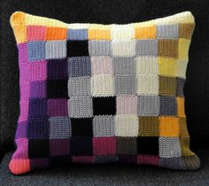 Crocheted pillow.