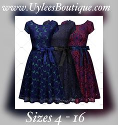 """This is a lovely floral V-neck dress. Made from 70%nylon & 30% cotton. Dress is a one piece, back zipper, and knee length. Available in US sizes 4 – 16.Available in threecolor patterns: Purple/Blue , Blue/Black or Green/Blue    Also available on our website at www.UyleesBoutique.com in our """"Vintage Inspired Dresses""""section.      Has the following measurements:    Small: 4-6 US, 32.3"""" – 34.2"""" bust range, 27.6"""" waist, 39.0"""" length    Medium: 8 US, 34.2"""" – 36.2"""" bust range, 29.5"""" waist…"""