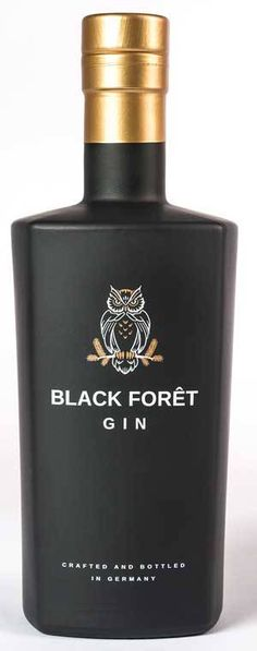 Black-Foret-GIN Rum Bottle, Liquor Bottles, Whiskey Bottle, Black Whiskey, Scotch Whiskey, Cocktails, Cocktail Drinks, Gin Bar, Drink Labels