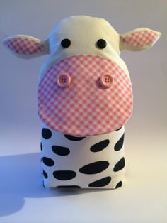Handmade Cute Cow Door Stop. Taken From Facebook Page A Bundle Of Crafts. Please Pop Over & Say Hello :)