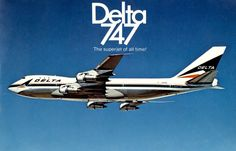 This is the cover of a 20-page brochure featuring Delta Air Lines Boeing 747 (clink on the picture to get the brochure) (Credits: Delta Flight Museum)