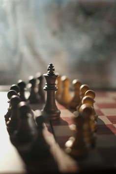 The chess by plastic. Chess is a two-player strategy board game played on a checkered board with 64 squares arranged in an grid Character Aesthetic, Aesthetic Photo, Gambit Wallpaper, Chess Piece Tattoo, Chess Online, Chess Moves, Applis Photo, Vash, Sunset Wallpaper