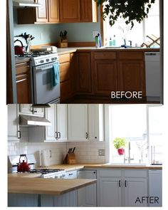 Ridiculous Tips and Tricks: Kitchen Remodel Ideas Small white kitchen remodel butcher blocks.Kitchen Remodel Before And After Builder Grade kitchen remodel flooring islands.Kitchen Remodel On A Budget Videos. 1970s Kitchen Remodel, Budget Kitchen Remodel, Galley Kitchen Remodel, Kitchen Remodeling, 1960s Kitchen, Remodeling Ideas, Rustic Kitchen, New Kitchen, Kitchen Tips
