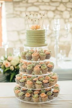 - Many brides are opting to break with tradition and choosing to go with wedding cupcakes instead of a traditional cake. One reason cupcakes have quickl. wedding cakes with cupcakes Cute Wedding Cake Cupcakes Ideas Big Wedding Cakes, Wedding Cakes With Cupcakes, Wedding Cake Designs, Cupcake Cakes, Rustic Cupcakes, Wedding Ideas, Wedding Planning, Wedding Inspiration, Candybar Wedding