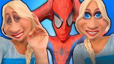 Frozen Elsa & Spiderman SNAPCHAT SPELL! w/ Rapunzel Cake Challenge Playt...