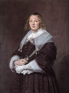 A Dutch Lady - Frans Hals.  1643-45.  Oil on canvas.  115 x 85.8 cm.  National Gallery of Scotland, Edinburgh, Scotland.