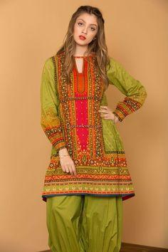 Stylish Lawn frock & Kurtis for Pakistani Girls For Yr 2019 Pakistani Party Wear Dresses, Pakistani Dress Design, Party Dresses, Pakistani Frocks, Pakistani Girl, Frock Fashion, Fashion Dresses, Party Fashion, Kids Fashion