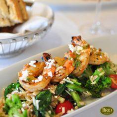 Shrimp Mediterranean | Brio Tuscan Grille | 15301 N Scottsdale Rd Scottsdale, AZ 85254 | (480)607-1100 | http://brioitalian.com #BrioTuscanGrille #Scottsdale #Light #Menu