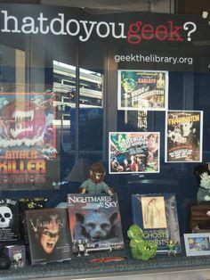 Halloween library display