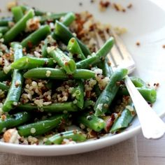 Green Beans & Tricolor Quinoa with Citrus Dressing. Great for Easter or a picnic lunch! *Gluten-free *Vegetarian