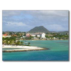 Aruba - Oranjestad and Hooiberg Cartes Postales