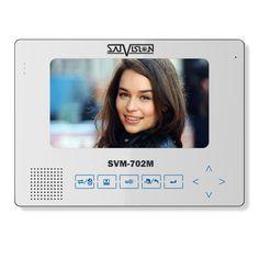 "Монитор видеодомофона Satvision SVM-702M SVM-702M Технические характеристики:                                                                                        Дисплей                                  7\"" TFT LCD                                                                                            Разрешение экрана                                  800 x 480                                                                                            Видео система…"