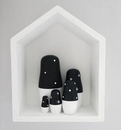 Monochrome Baby Monochrome Nursery Scandinavian Nesting Dolls Scandinavian…