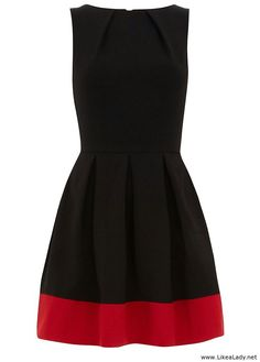Simple dress – Black and red