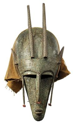 "BAMANA, Marka Mask, Mali  19"" high x 9""wide x 6.5"" deep  Photograph - Tim Hamill"