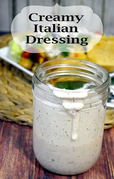 Italian Salad Dressing This Creamy Italian Dressing is so easy to make and delicious. adThis Creamy Italian Dressing is so easy to make and delicious. Italian Dressing Recipes, Salad Dressing Recipes, Salad Dressings, Italian Recipes, Creamy Salad Dressing, Creamy Garlic Dressing, Sauce Recipes, Cooking Recipes, Homemade Dressing