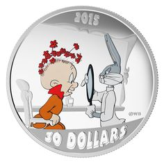 This is the Rabbit of Seville Edition of the spectacular Looney Tunes Colored Silver Proof Coin Series. Rabbit of Seville, struck in pure silver and finished with a rich colored application is a sure winner for the young coin enthusiast in your life. Mint Coins, Silver Coins, Bugs Bunny, Looney Tunes, Jdm, Elmer Fudd, Merrie Melodies, Canadian Coins, Stamps